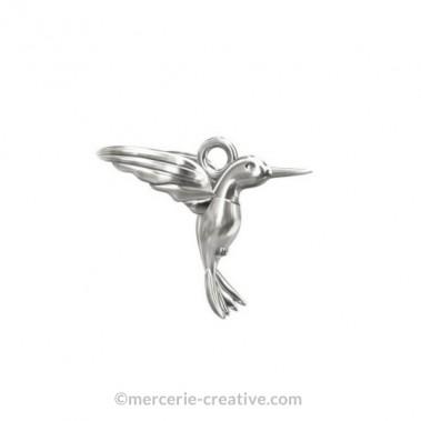 Breloque oiseau colibri argent 925 13mm x1