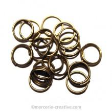 Anneaux double bronze 8 mm
