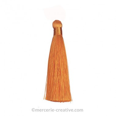 Pompon long ocre 12 cm x1