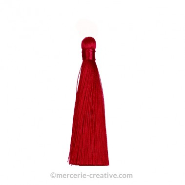 Pompon long rouge 12 c m x1