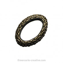 Anneau séparateur ovale bronze 16x10 mm