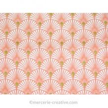 Coupon de tissu couleur saumon