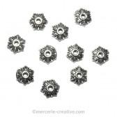 Coupelle en métal fleur 6 mm x10