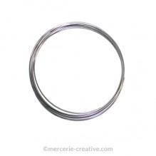 Bracelet mémoire 60 mm argenté 5 tours