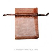 Sachet organza marron