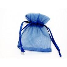 Sachet organza bleu indigo X1