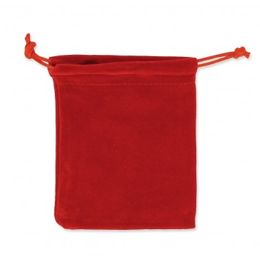 Pochette en velours rouge X1