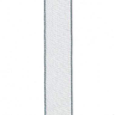 Ruban organza bleu gris 10mm
