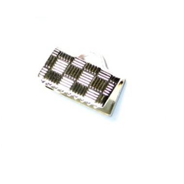 Embout ruban metal argenté 10X5MM