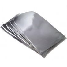 Pochette cadeau papier glacé argenté brillant X1