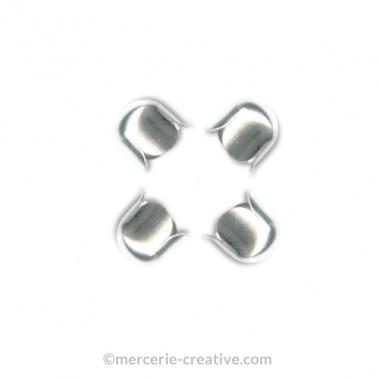 Cloche embout argenté 4mm x4