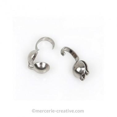 Cache-noeuds argenté 3 mm X8