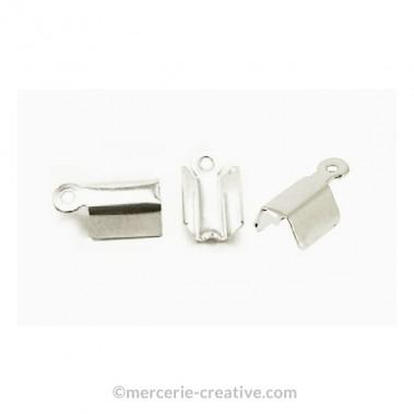 Fermoir lacet métal argenté 3mm x4