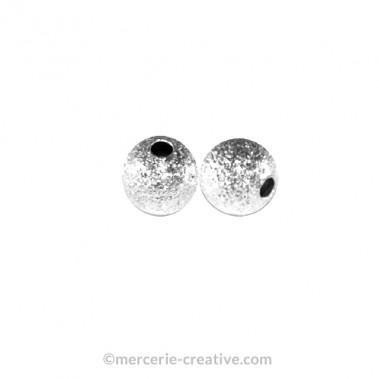 Perle métal diamant 6mm x2