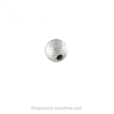 Perle métal diamant 8mm x2