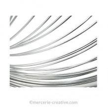Fil aluminium pour bijou argenté x50cm