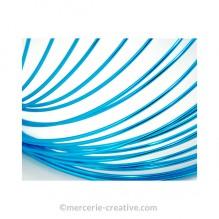 Fil aluminium pour bijou bleu turquoise x50cm