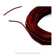 Cordon cuir couleur brun café