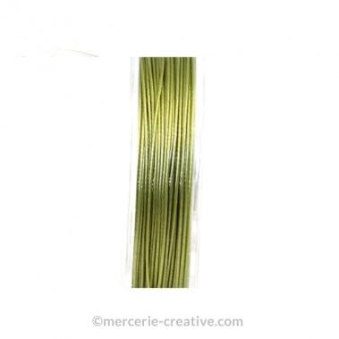 Fil cablé crinelle olive 0.45 mm x1M