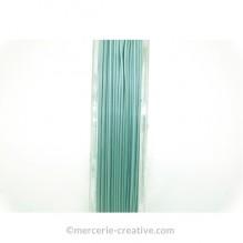Fil cablé crinelle turquoise opaque 0.45 mm x1M