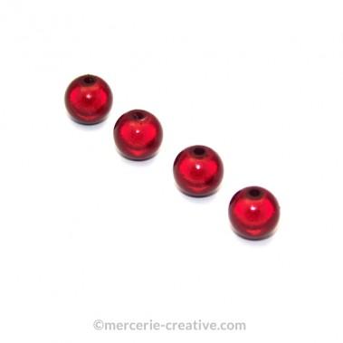 Perles magiques 6 mm bordeaux x6