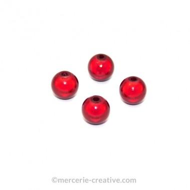 Perles magiques 8 mm bordeaux x6