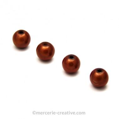 Perles magiques 6 mm cuivre x6